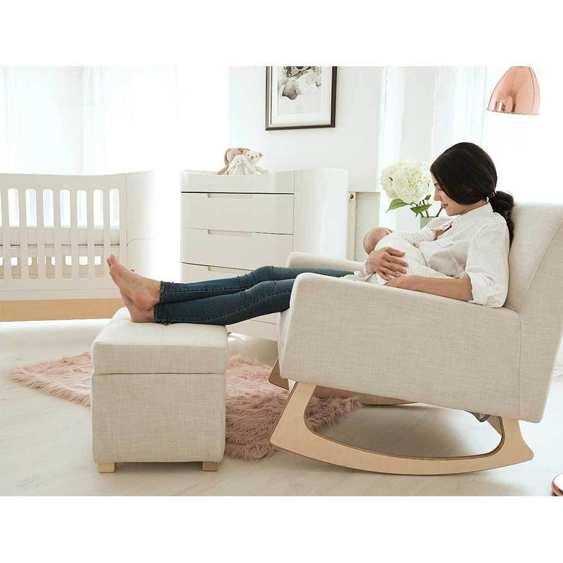 Gaia Serena Rocking Feeding chair - Oatmeal