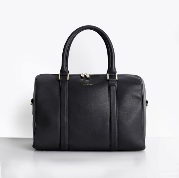 Heather Baby Changing Bag - Black