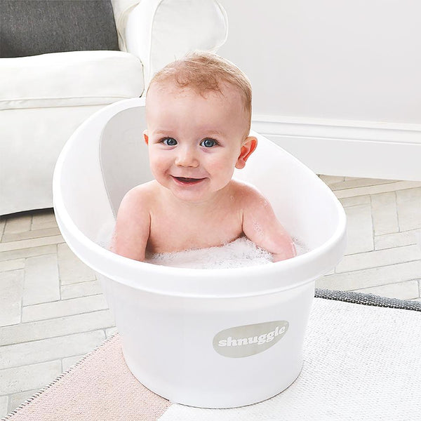 Shnuggle Bath White With Grey backrest