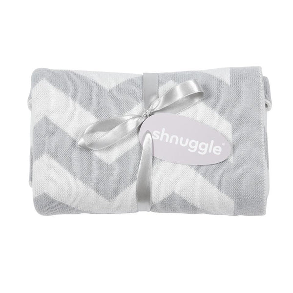 Shnuggle Luxury Knitted Blanket - Chevron