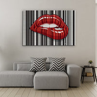 Barcode Lips - Wallkraft Designs