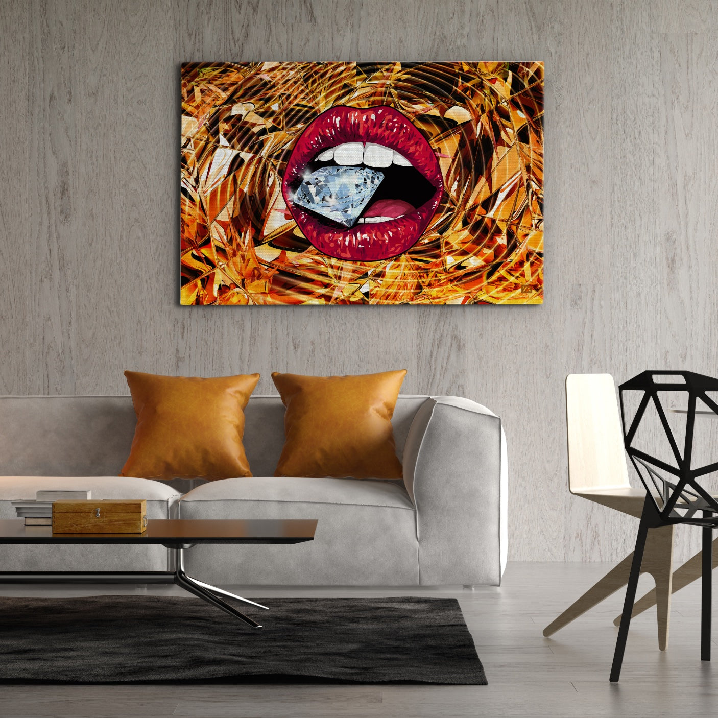 Untamed Lips - Wallkraft Designs