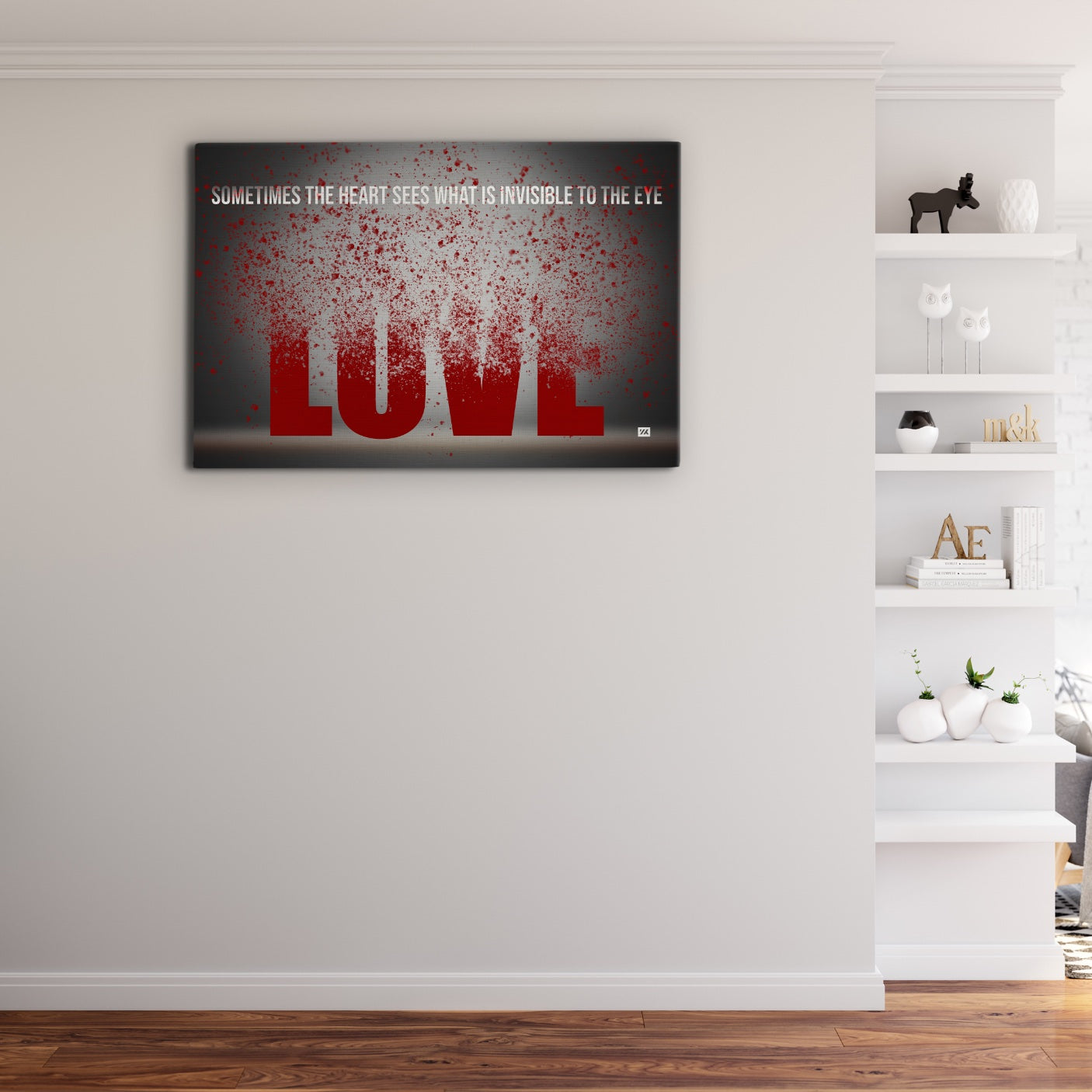 The Heart Sees What Is Invisble To The Eye - Wallkraft Designs
