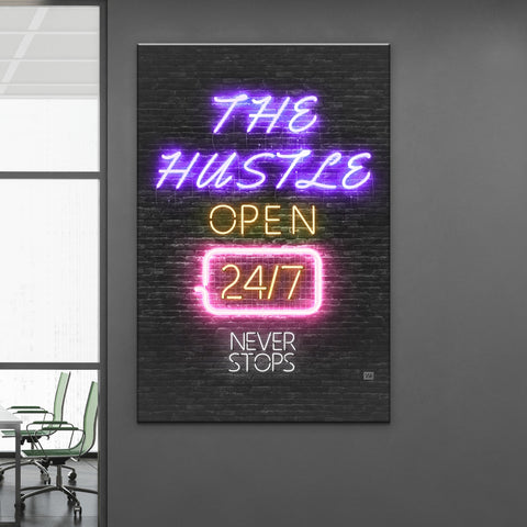 Hustle 24/7 - Wallkraft Designs