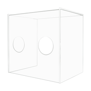 "Personal Barrier Clear Acrylic Cover with Hand Access Holes 19.5""H x 19.75""W x 15.5""D"