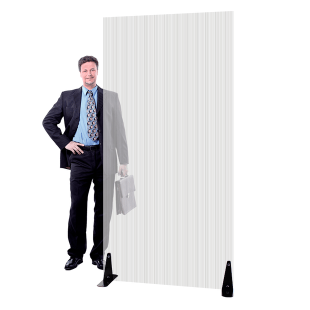 "Lightweight Durable Portable Floor Standing Sneeze Guard Divider 72""H to 96""H"