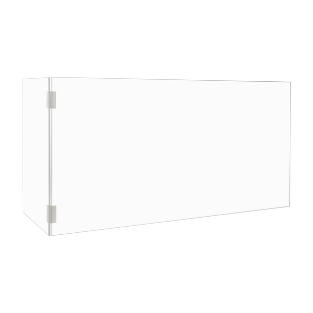 "Countertop Clear Acrylic L Shape Shield Barrier - 18""H x 36""W x 11.75""D"