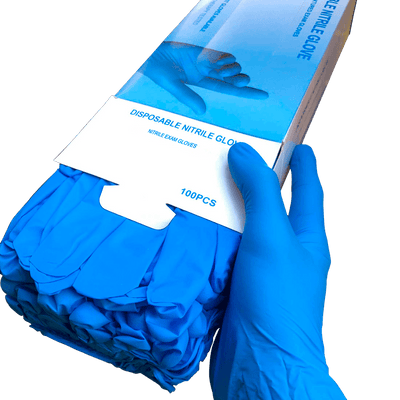Nitrile High Performance Gloves, Powder Free, Disposable (100 Gloves Pack)