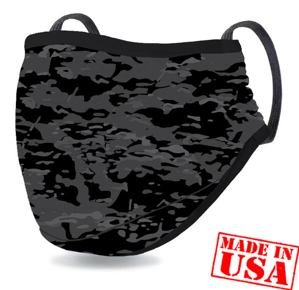 DFNDR 4 Layer Protection Face Mask - Camo Black