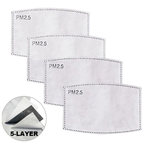 PM 2.5 Activated Carbon Filters - 4 PACK For The DFNDR Masks