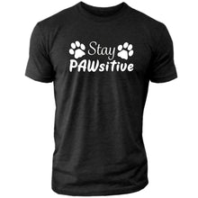 "Load image into Gallery viewer, Stay PAWsitive - Men's Crew Tee ""PRE-ORDER"""