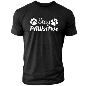 "Stay PAWsitive - Men's Crew Tee ""PRE-ORDER"""