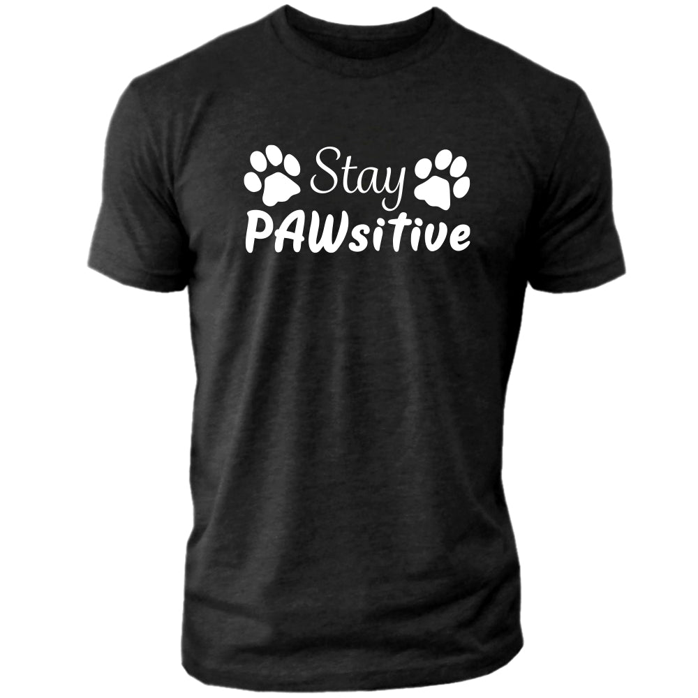 Stay PAWsitive - Men's Crew Tee