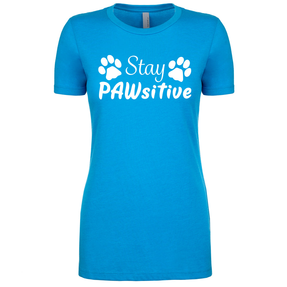 Stay PAWsitive - Women's Crew Tee