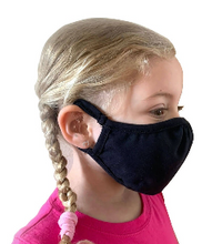 Load image into Gallery viewer, YOUTH - 2 Layer Face Masks - 3 Pack - Black (Not The DFNDR Masks)