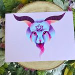"Load image into Gallery viewer, ""Baby Baphomet"" Pastel Art Print"