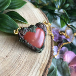 Load image into Gallery viewer, Red Jasper heart pendant