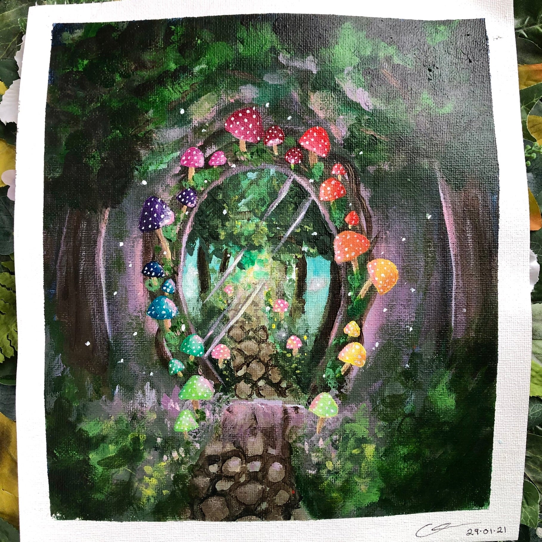 """Enchanted Utopia"" Original painting"