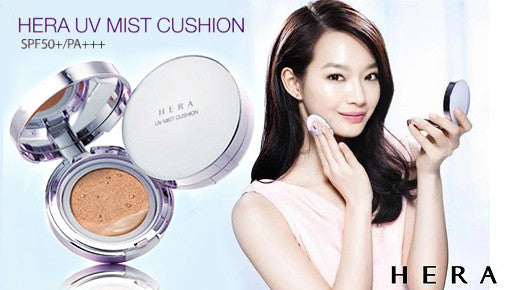 HERA UV Mist Cushion SPF50+/PA+++ N21 - Cool Vanilla Natural with Refill (15g + 15g)