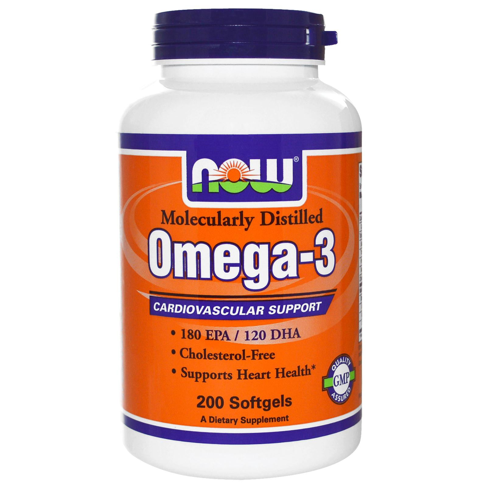 Now Foods - Omega 3, Cardiovascular Support (200 Softgels)