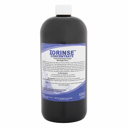 ioRinse Concentrated Irrigant 1L (green apple) - Case of 12.   Professional Case Pricing Applied