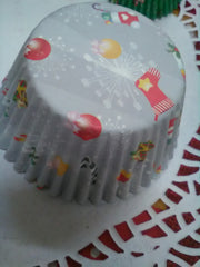Christmas Cup Cake Liners in Assorted Sizes and Patterns (Available in 100's or 500's)