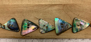 Triangle Abalone Buttons