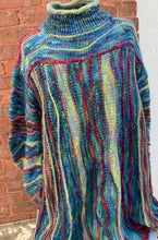 Load image into Gallery viewer, The Water World Sweater. Blues Version.