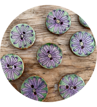 "Load image into Gallery viewer, 3/4"" Hand Painted Round Buttons."