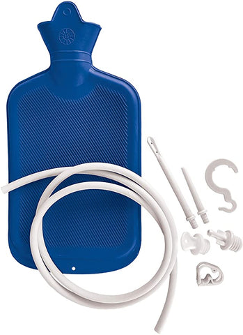Blue Jay Hot or Cold Portable Classic Rubber Water Bottle with Douche Enema System