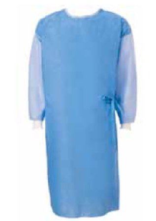 Poly-Reinforced Surgical Gown with Towel SmartSleeve™ Large Blue Sterile AAMI Level 4 Disposable