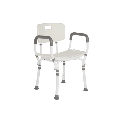 Lifestyle Mobility Aids Premium Shower Chair with Back and Padded Arms