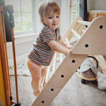 Load image into Gallery viewer, Foldable Easy Climb Pikler Triangle Climber with Optional Ramps - Schoene and Son Toys