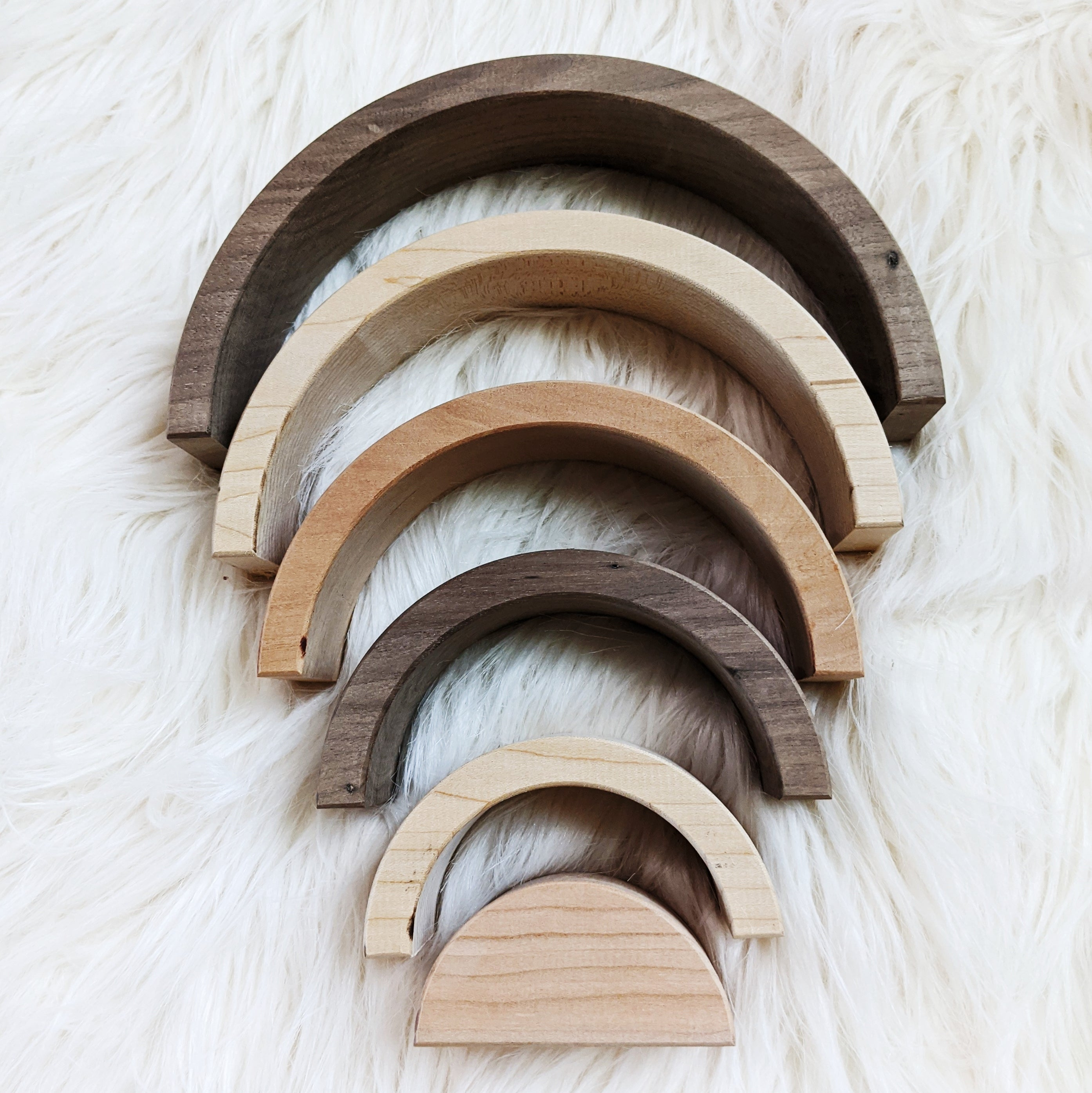 Nest Wood Stacking Rainbows