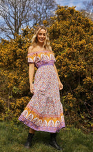 Load image into Gallery viewer, Aria Maxi Dress in Purple/Yellow