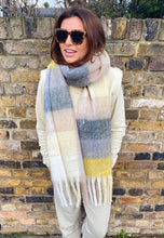 Load image into Gallery viewer, 'Lennie' Checked Scarf in Cream