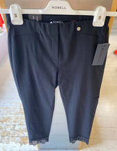 Load image into Gallery viewer, 'Rose 09' Trouser with Detail in Black