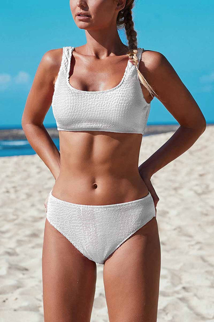 Florcoo Solid Color Sexy Thread Swimwear