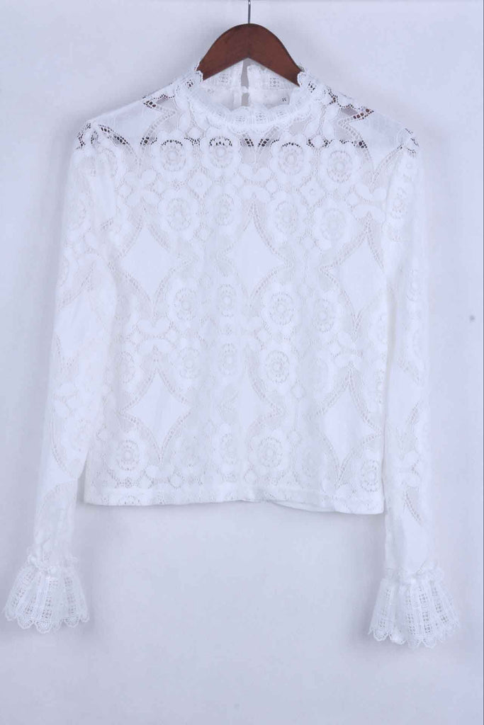 Florcoo Solid Lace Tops ( 2 Colors)