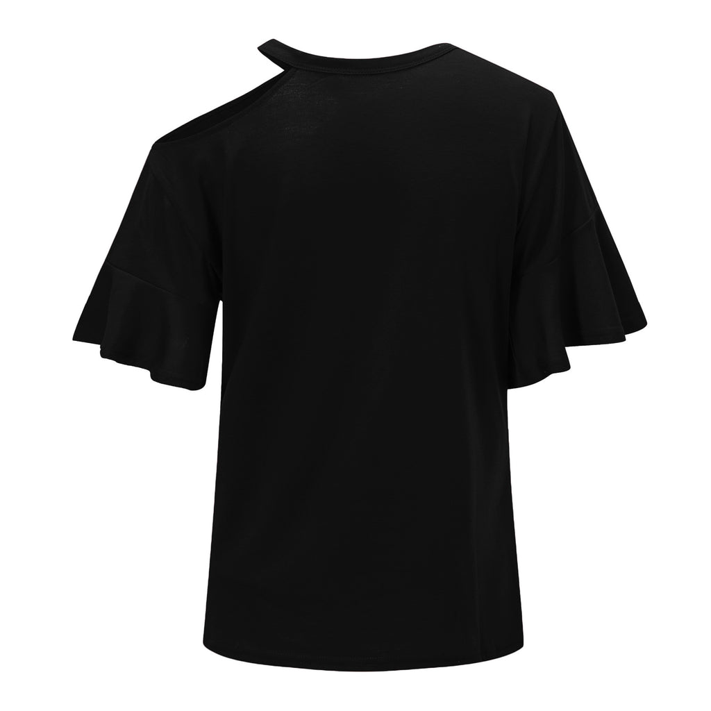 Florcoo Casual Dew Shoulder T-shirt