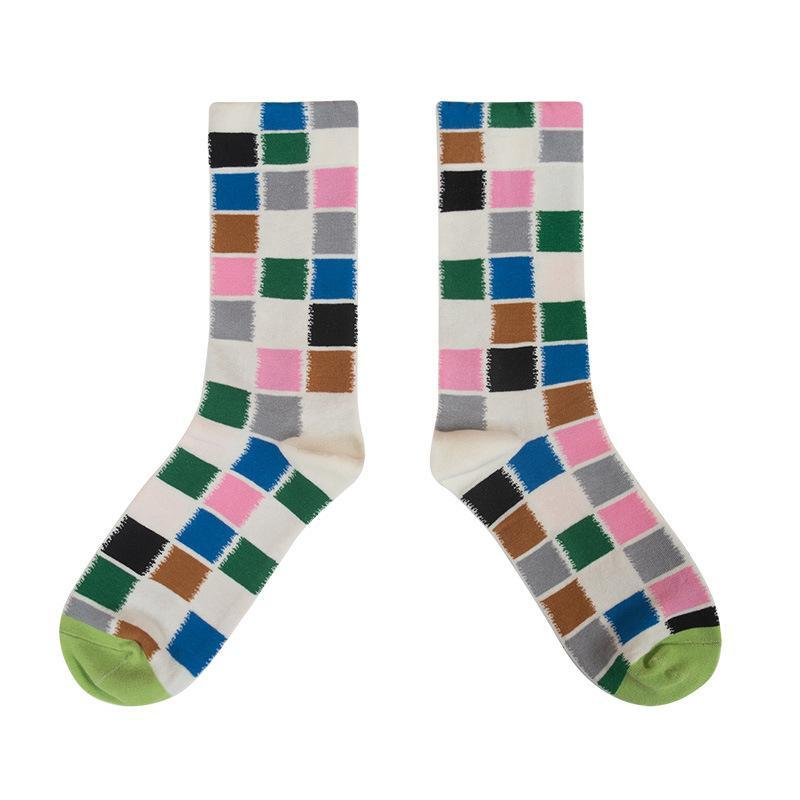 Florcoo Muiticolor Plaid Socks