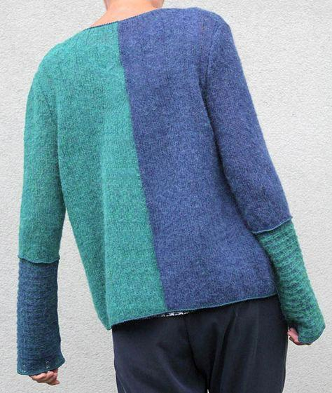 Florcoo Loose Stitching Knitted Sweater