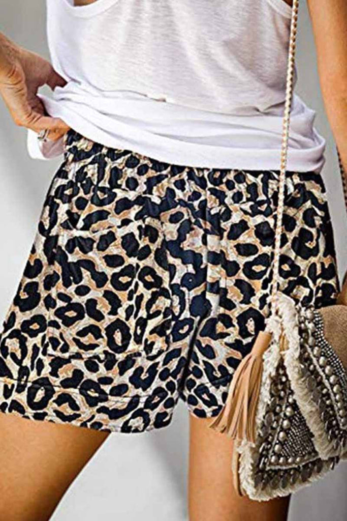 Florcoo Summer Loose Print Shorts