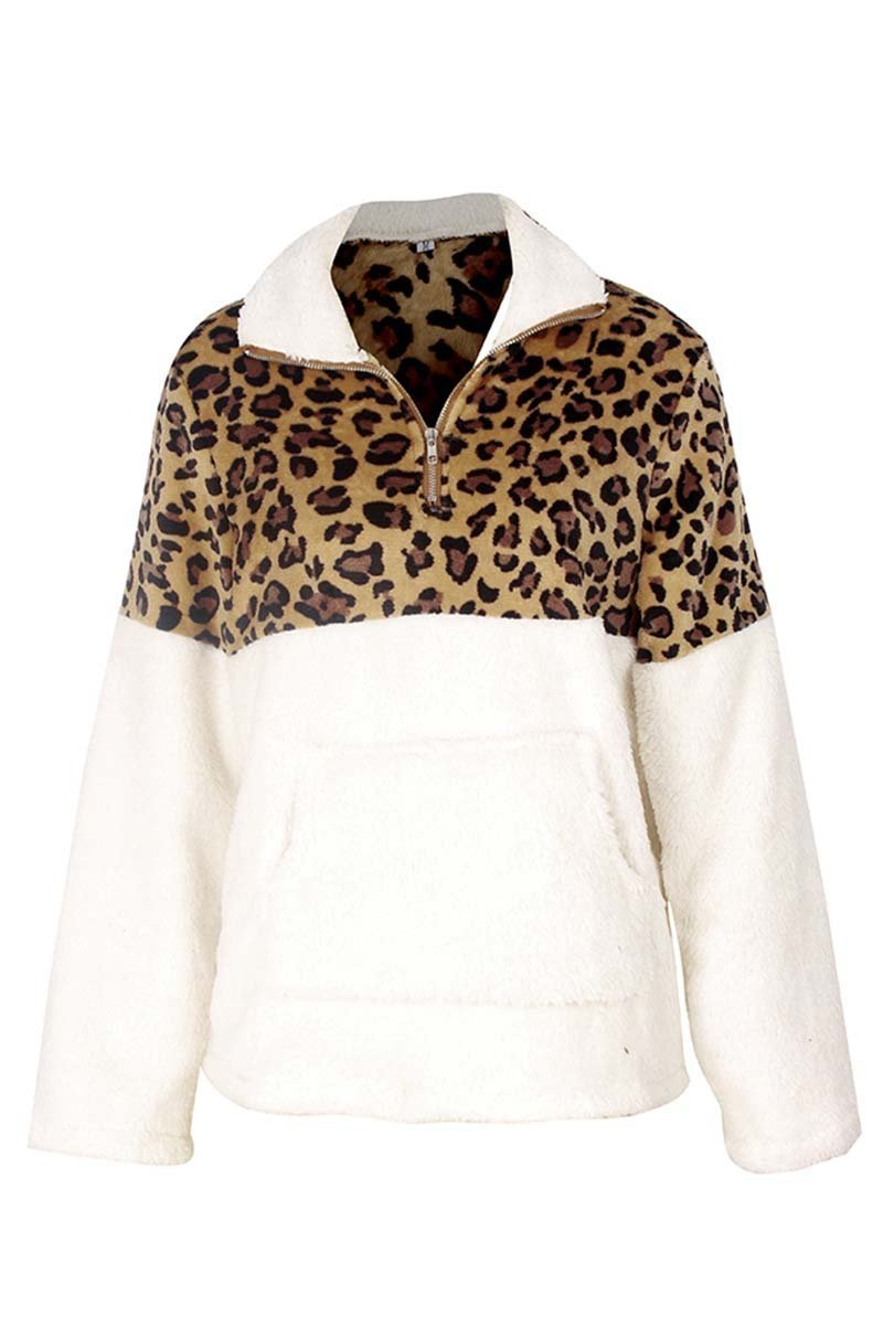Florcoo Leopard Stitching Tops