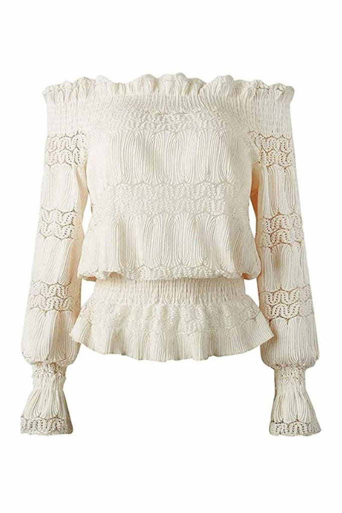 Florcoo Flounce Design Dusty Blouse ( 5 Colors )