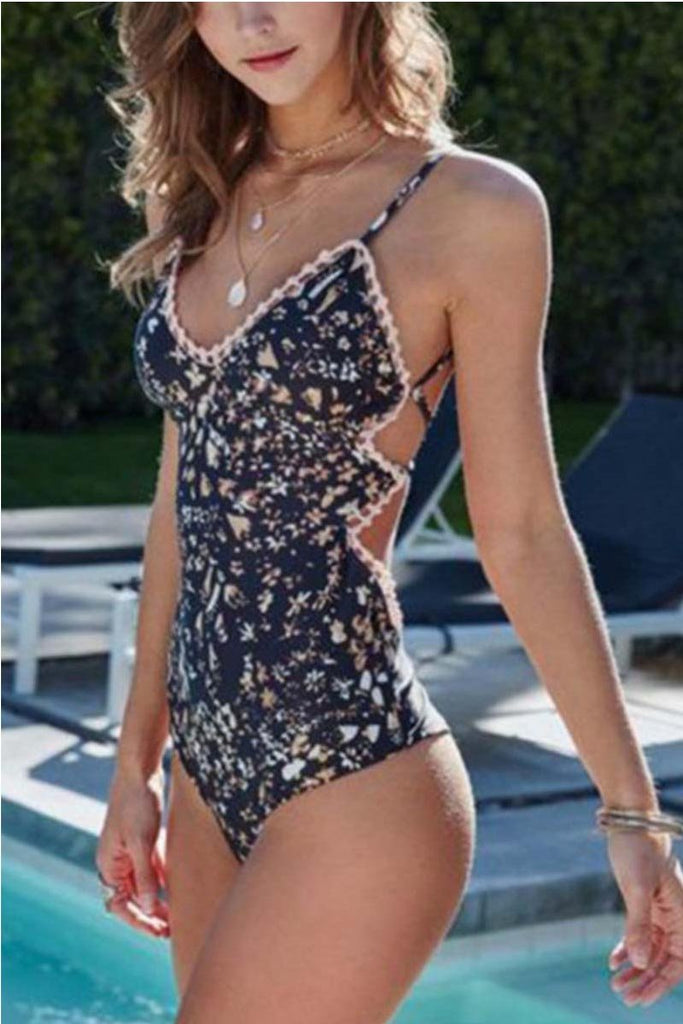 Florcoo One Piece Floral Swimsuit