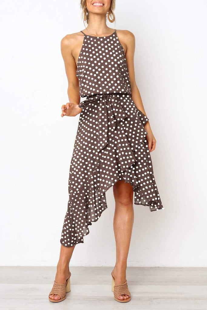 Florcoo Irregular Polka Dot Dress (3 Colors)