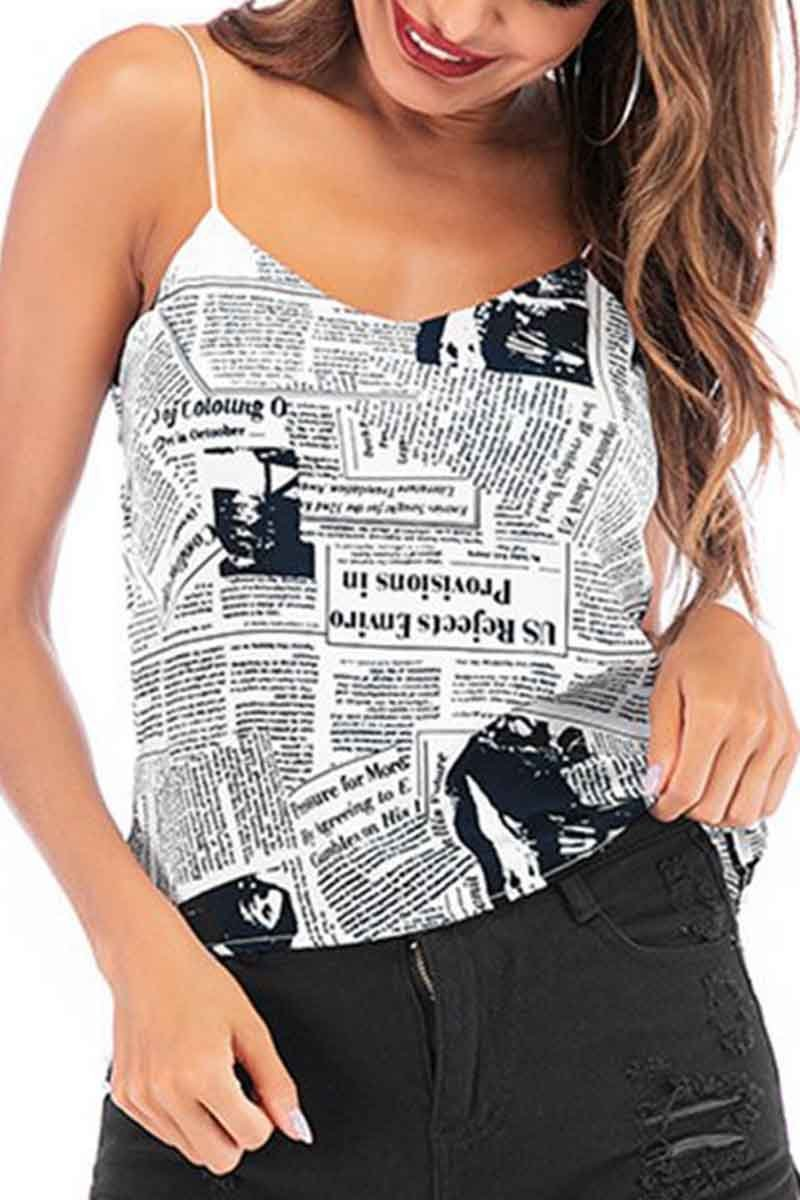 Newspaper Printing Tank Top