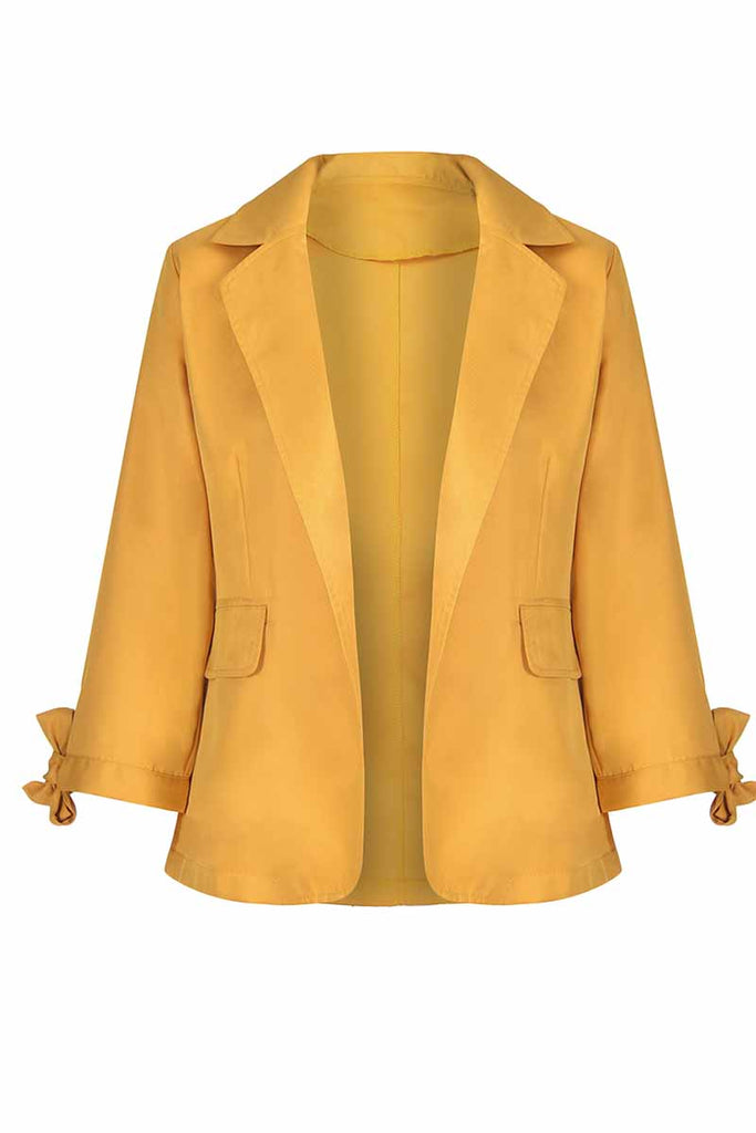 Florcoo Women's Solid Color Blazer With Pocket