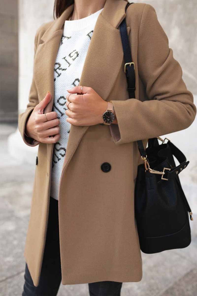 Florcoo Solid Color Loose Suit Coat